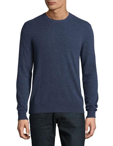 Black Brown 1826 Cashmere Crew Neck Sweater-DARK BLUE-Large