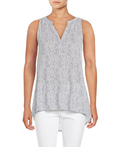 Lord & Taylor Scribble Dot Hi-Lo Tank-WHITE-Small 88873150_WHITE_Small