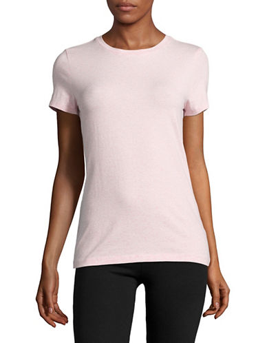 Lord & Taylor Compact Cotton-Blend T-Shirt-PINK-Medium 88834614_PINK_Medium