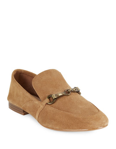 424 Fifth Gabby1 Suede Loafers-BROWN-5.5