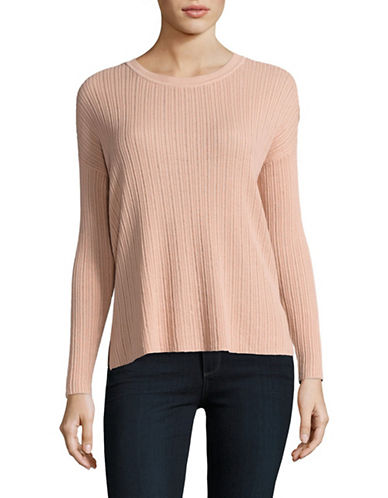 Lord & Taylor Knit Long Sleeve Novelty Sweater-BEIGE-Large