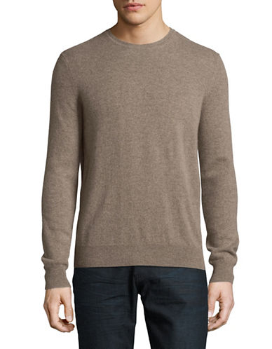 Black Brown 1826 Cashmere Crew Neck Sweater-BROWN-XXX-Large