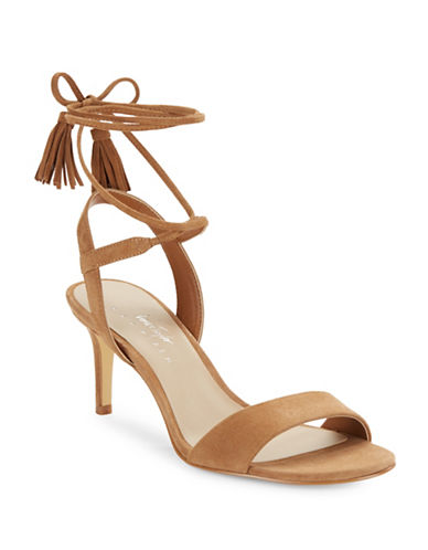 424 Fifth Giovanna Suede Sandals-BROWN-9