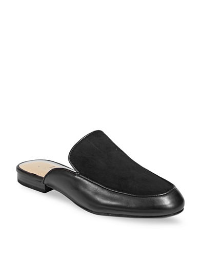 424 Fifth Gigi Leather Slides-BLACK-6.5