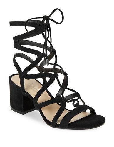 424 Fifth Honey Suede Strappy Sandals-BLACK-8