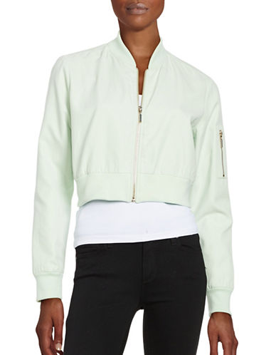 Highline Collective Cropped Bomber Jacket-MINT-Small
