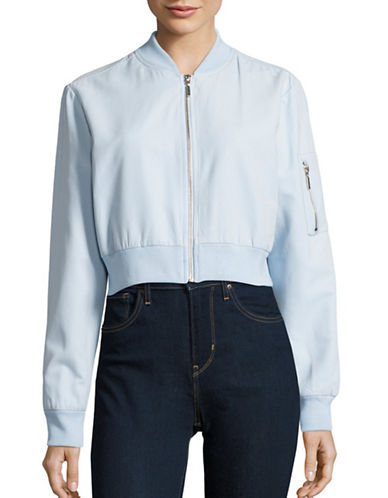 Highline Collective Cropped Bomber Jacket-BLUE-X-Large