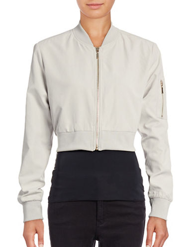Highline Collective Cropped Bomber Jacket-BROWN-X-Small 88760263_BROWN_X-Small