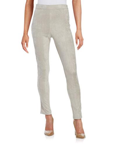 H Halston Slim-Fit Pull-On Pants-GREY-Large 88760221_GREY_Large