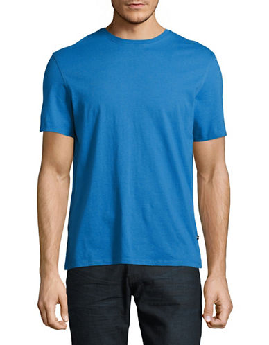 Black Brown 1826 Super Soft Crew Neck T-Shirt-BLUE-Medium