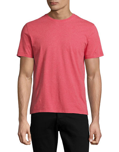 Black Brown 1826 Super Soft Crew Neck T-Shirt-RED-Medium