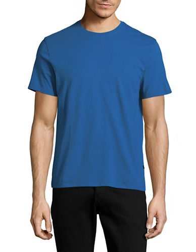 Black Brown 1826 Super Soft Crew Neck T-Shirt-BLUE-Large