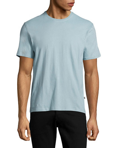 Black Brown 1826 Super Soft Crew Neck T-Shirt-SKY BLUE-X-Large
