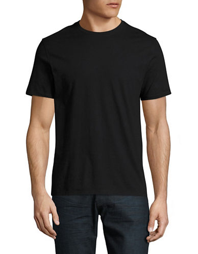 Black Brown 1826 Super Soft Crew Neck T-Shirt-JET BLACK-X-Large