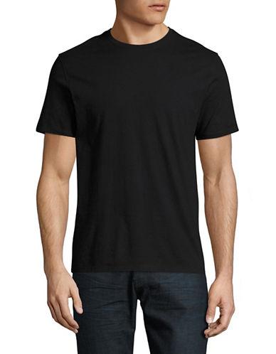 Black Brown 1826 Super Soft Crew Neck T-Shirt-JET BLACK-Large
