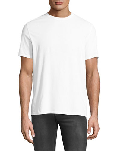 Black Brown 1826 Super Soft Crew Neck T-Shirt-WHITE-Large