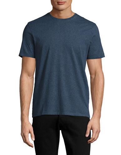 Black Brown 1826 Super Soft Crew Neck T-Shirt-NAVY BLUE-X-Large