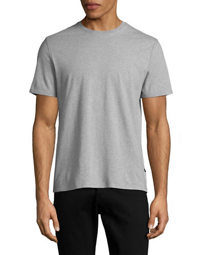 Black Brown 1826 Super Soft Crew Neck T-Shirt-GREY-Small