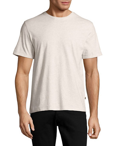Black Brown 1826 Super Soft Crew Neck T-Shirt-LIGHT GREY-Small