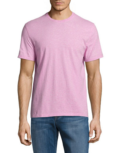 Black Brown 1826 Super Soft Crew Neck T-Shirt-PINK-Large