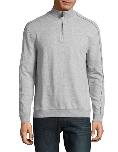 Black Brown 1826 Heathered French Terry Sweatshirt-GREY-X-Large 88827386_GREY_X-Large