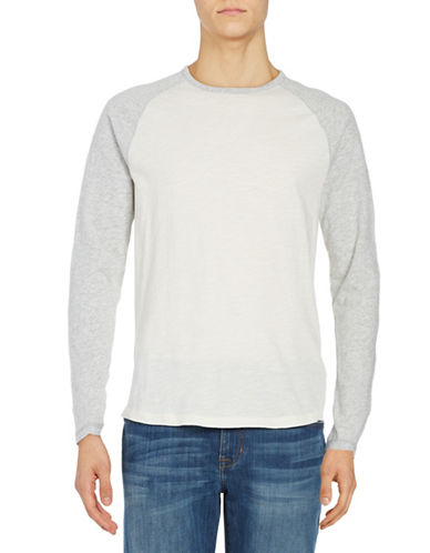 Black Brown 1826 Long Sleeve Raglan Tee-WHITE-X-Large