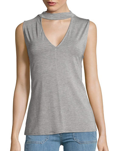 Highline Collective Mock Neck Cutout Top-GREY-Large 88755905_GREY_Large