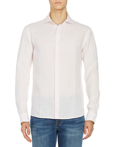 Black Brown 1826 Linen Sport shirt-PINK-XX-Large