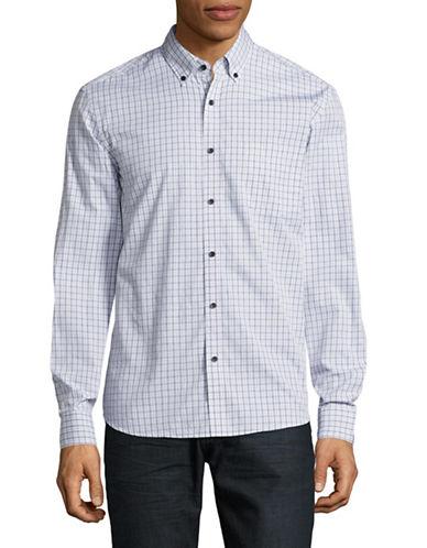 Black Brown 1826 Printed Cotton Sport Shirt-NATURAL-XXX-Large