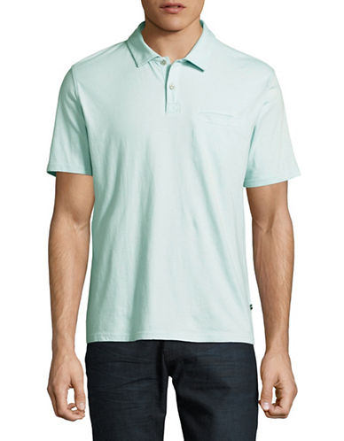Black Brown 1826 Super Soft Jersey Polo-TEAL-Small