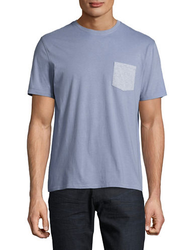 Black Brown 1826 Super Soft Pocket T-Shirt-SMOKE BLUE-X-Large