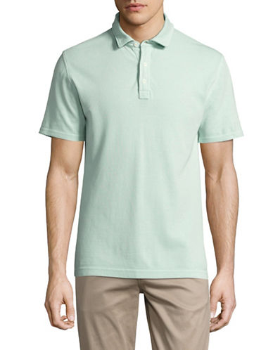 Black Brown 1826 Textured Cotton Polo-LIGHT BLUE-Medium