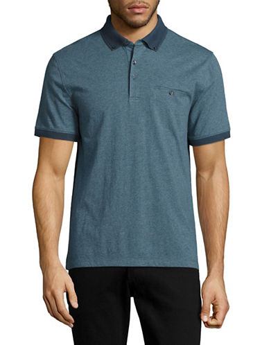 Black Brown 1826 Jersey Welt-Pocket Polo-TEAL-Small