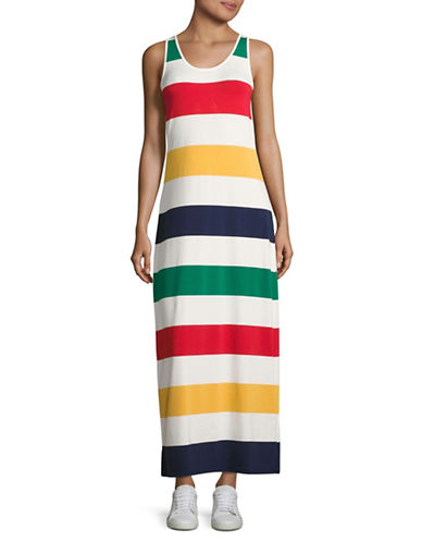 HudsonS Bay Company Heritage Stripe Maxi Dress-MULTI-X-Large