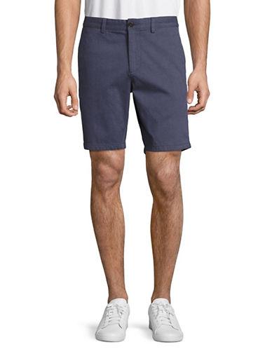 Black Brown 1826 Basketweave Shorts-BLUE-34