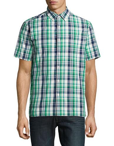 Black Brown 1826 Summer Sport Shirt-GREEN-Small