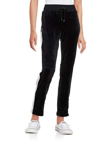 Highline Collective Contrast Velour Pants-BLACK-Medium 88790225_BLACK_Medium