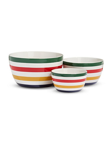 HudsonS Bay Company Three-Piece Multi-Stripe Mixing Bowl Set-MULTI-One Size