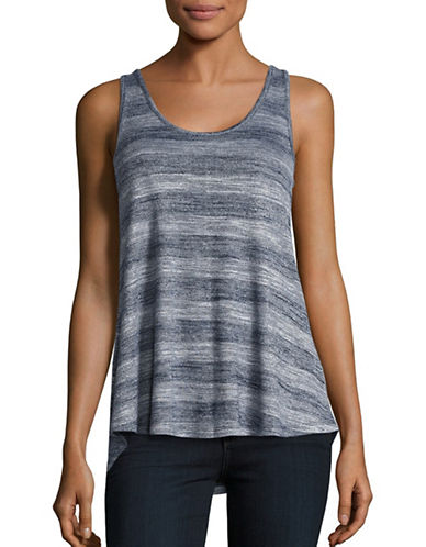 H Halston Hi-Lo Scoop Neck Tank Top-BLUE-X-Small 88912275_BLUE_X-Small