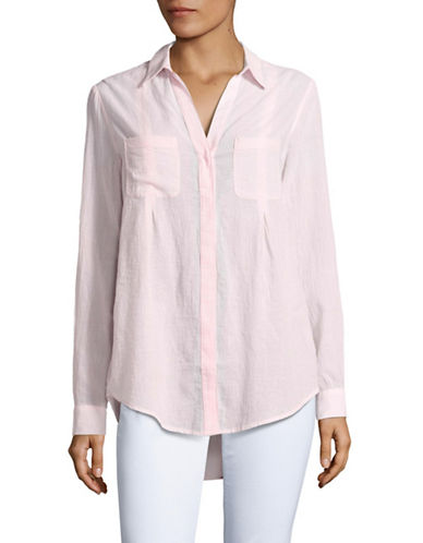 Lord & Taylor Nancy Shirt-ROSE-Medium