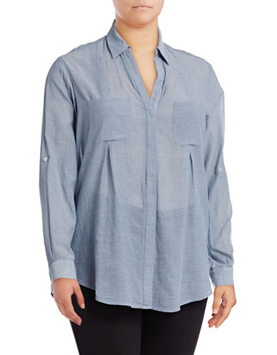 Lord & Taylor Nancy Shirt-CROWN BLUE-Small