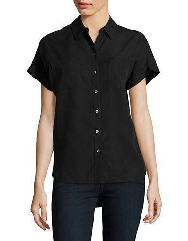Lord & Taylor Addy Shirt-BLACK-X-Small 89029890_BLACK_X-Small
