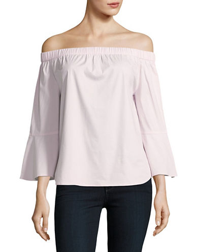 Lord & Taylor Lily Off-The-Shoulder Top-PINK-X-Small 88926400_PINK_X-Small