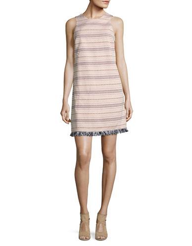 Lord & Taylor Triangle Jacquard Fringe Dress-MULTI-14