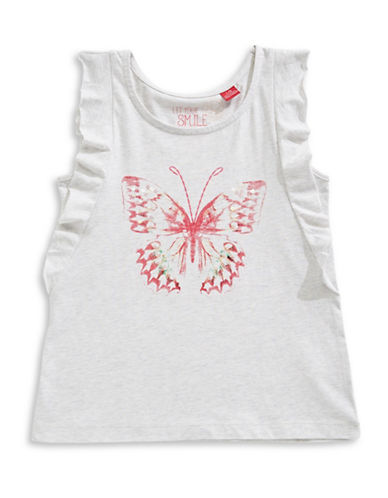 Manguun Butterfly Ruffle Tank Top-GREY-Small 88960158_GREY_Small