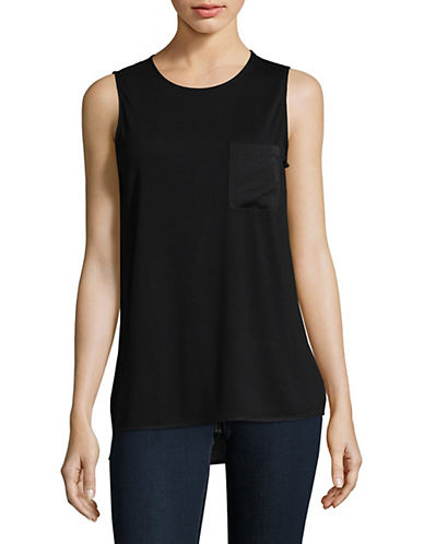 Lord & Taylor Hi-Lo Tank-BLACK-X-Small