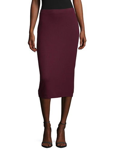 Lord & Taylor Ribbed Bodycon Skirt-BEGONIA-Large