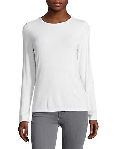Lord & Taylor Basic Long Sleeve Shirt-CLOUD WHITE-X-Large