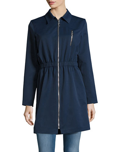 H Halston Shirt-Collar Jacket-BLUE-Large 88871905_BLUE_Large
