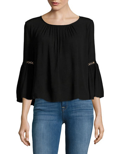 Highline Collective Gauze Peasant Top-BLACK-Medium 88894544_BLACK_Medium